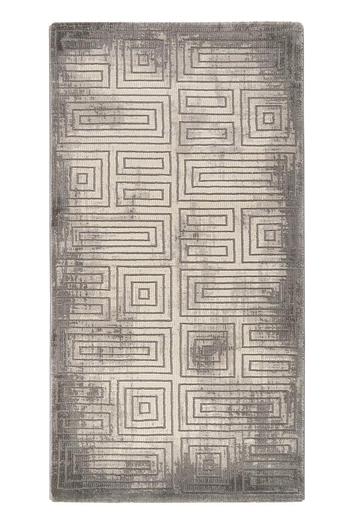 Web-Teppich mit geometrischem Muster, DARK GREY, detail image number 4