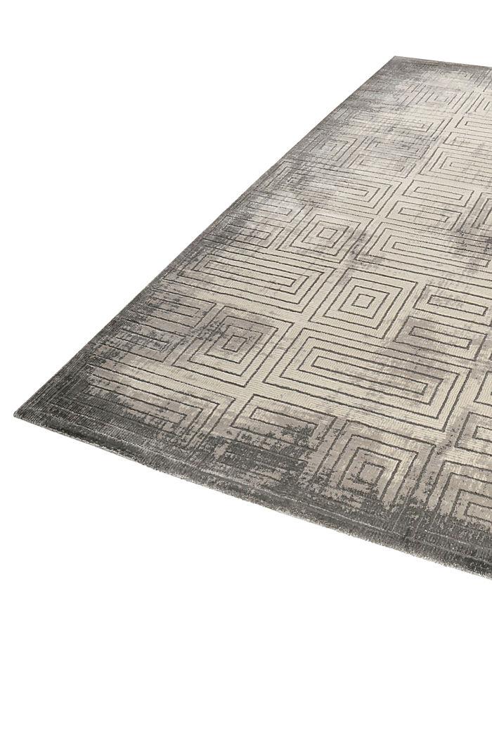 Web-Teppich mit geometrischem Muster, DARK GREY, detail image number 3