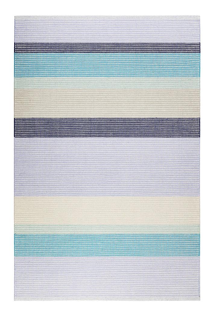 Handgewebter Kelim-Teppich aus Woll-Mix, BLUE, detail image number 0