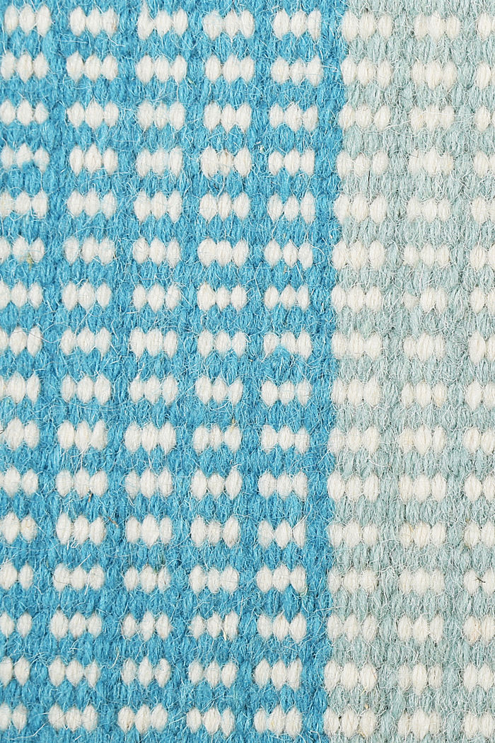 Handgewebter Kelim-Teppich aus Woll-Mix, BLUE, detail image number 3