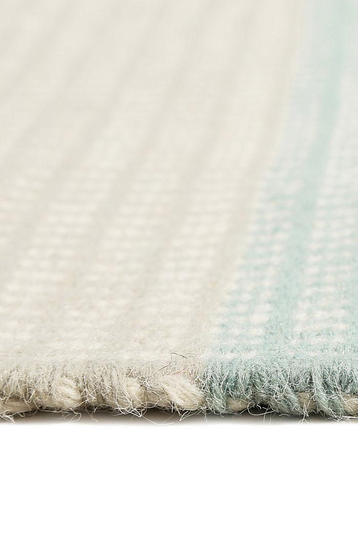 Handgewebter Kelim-Teppich aus Woll-Mix, BLUE, detail image number 1