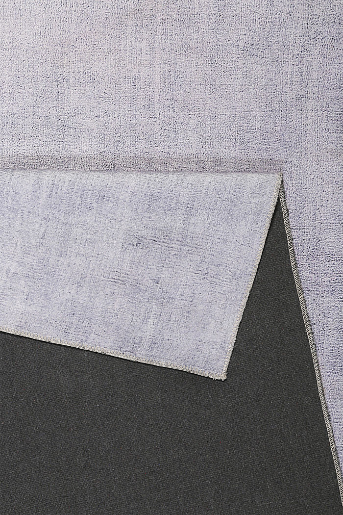 Kurzflor-Teppich mit upgecycelter Baumwolle, MEDIUM GREY, detail image number 2