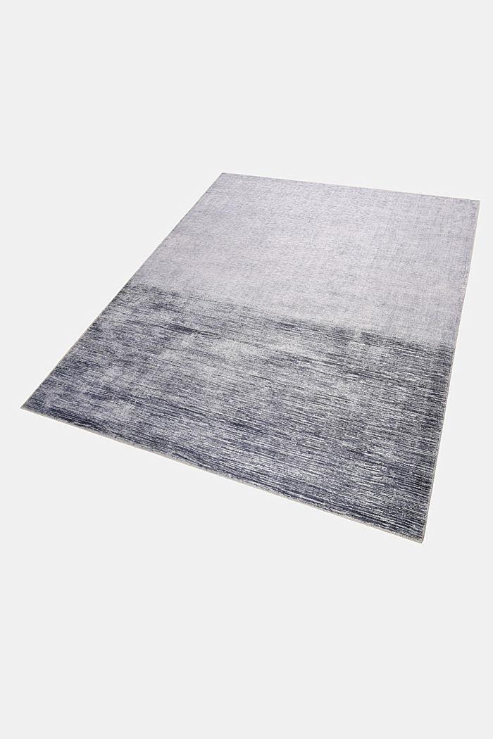 Kurzflor-Teppich mit upgecycelter Baumwolle, GREY, detail image number 4