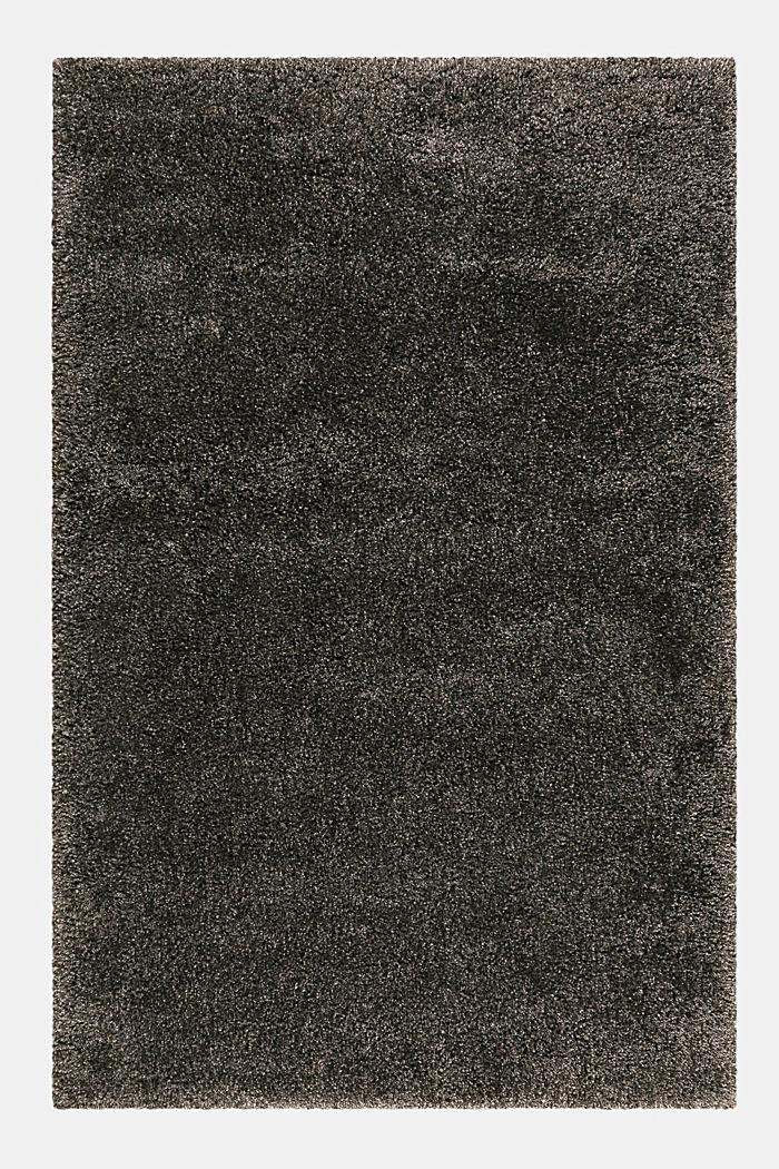 Gewebter Hochflor-Teppich, meliert, DARK GREY, detail image number 0
