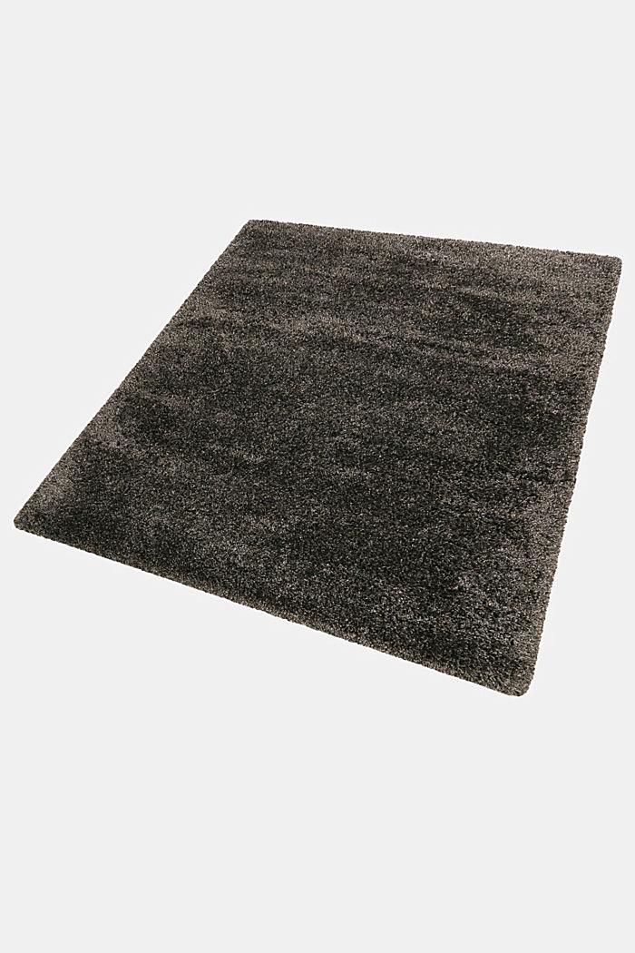 Gewebter Hochflor-Teppich, meliert, DARK GREY, detail image number 3