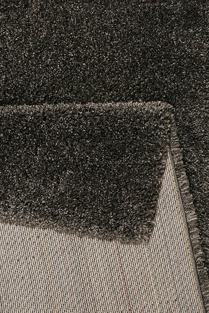 Gewebter Hochflor-Teppich, meliert, DARK GREY, detail image number 2