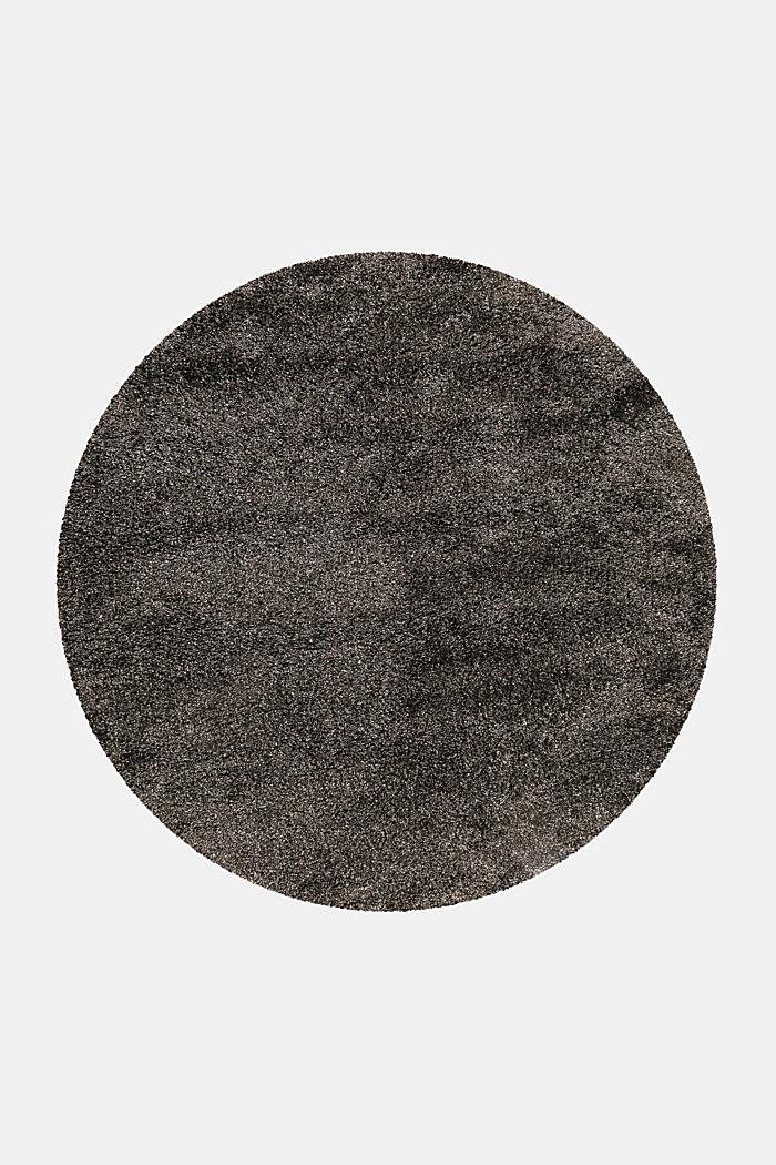 Gewebter Hochflor-Teppich, meliert, DARK GREY, detail image number 1