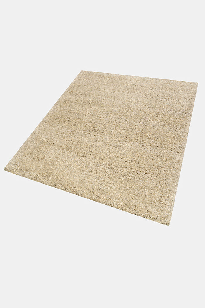 Gewebter Hochflor-Teppich, meliert, BEIGE, detail image number 3