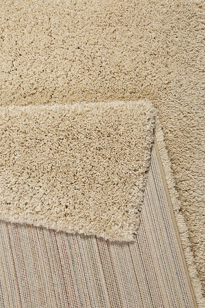 Gewebter Hochflor-Teppich, meliert, BEIGE, detail image number 2