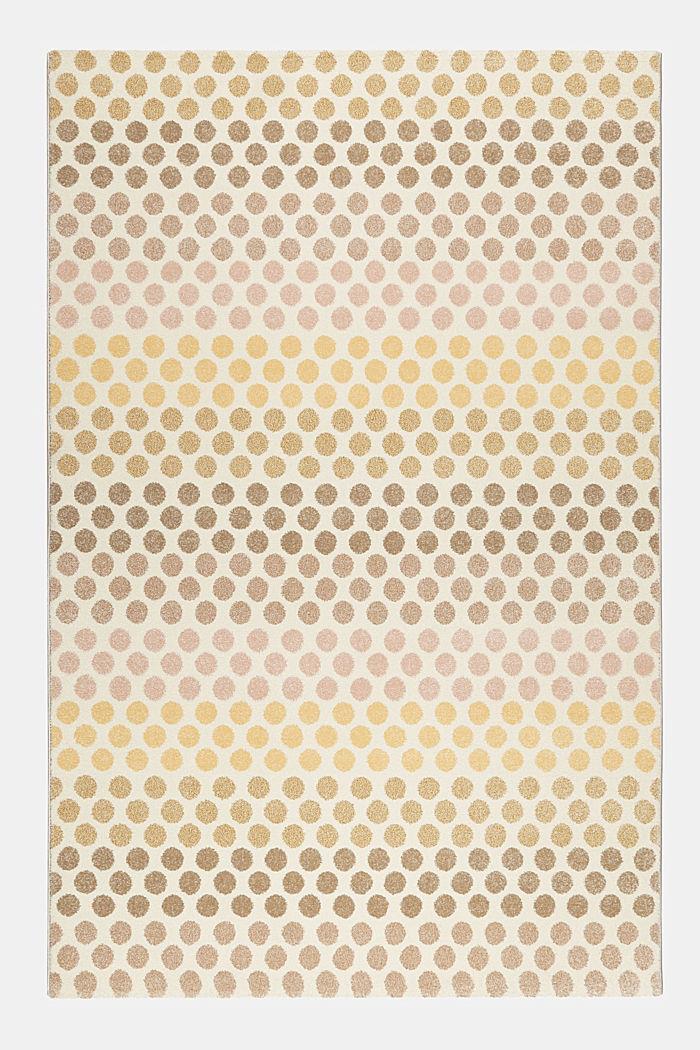 Web-Teppich mit dezentem Kreis-Muster, BEIGE, detail image number 0