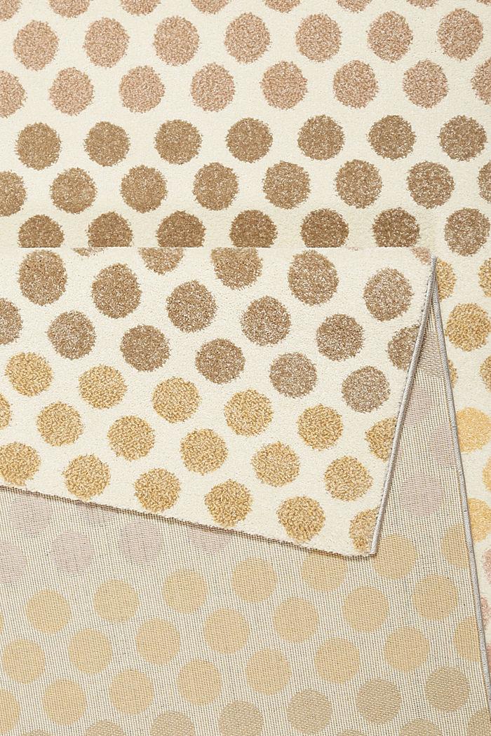 Web-Teppich mit dezentem Kreis-Muster, BEIGE, detail image number 2