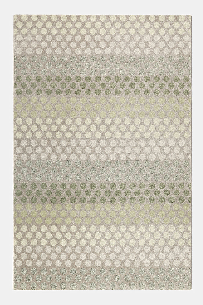 Web-Teppich mit dezentem Kreis-Muster, GREEN, detail image number 0
