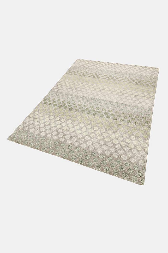 Web-Teppich mit dezentem Kreis-Muster, GREEN, detail image number 4