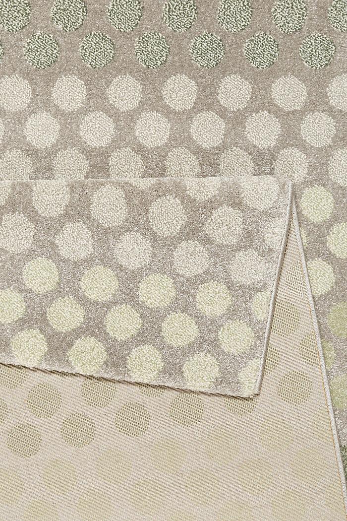 Web-Teppich mit dezentem Kreis-Muster, GREEN, detail image number 2