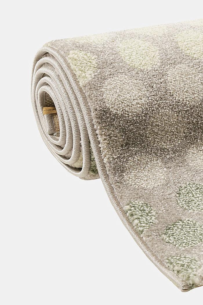 Web-Teppich mit dezentem Kreis-Muster, GREEN, detail image number 3