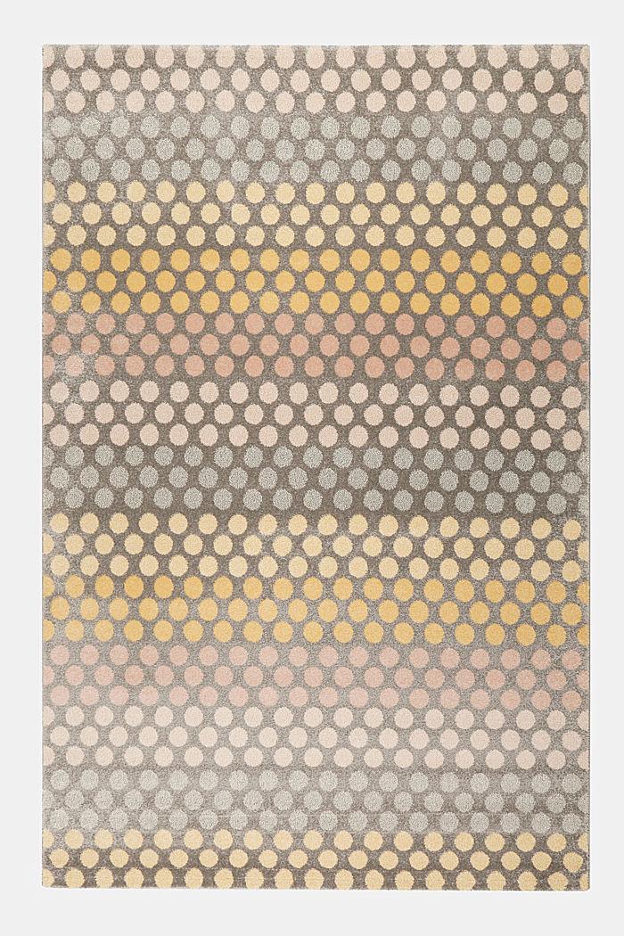 Web-Teppich mit dezentem Kreis-Muster, ORANGE, detail image number 0