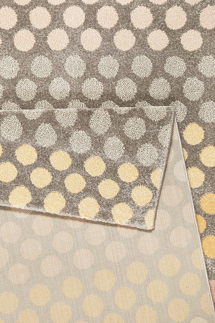 Web-Teppich mit dezentem Kreis-Muster, ORANGE, detail image number 2