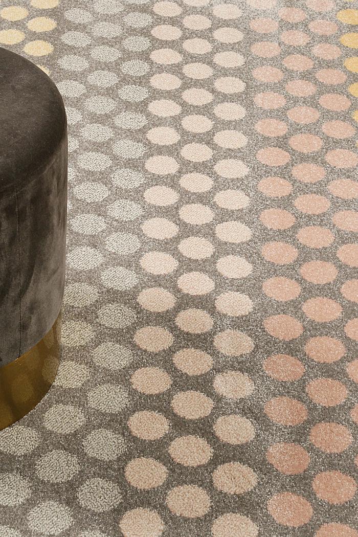 Web-Teppich mit dezentem Kreis-Muster, ORANGE, detail image number 1