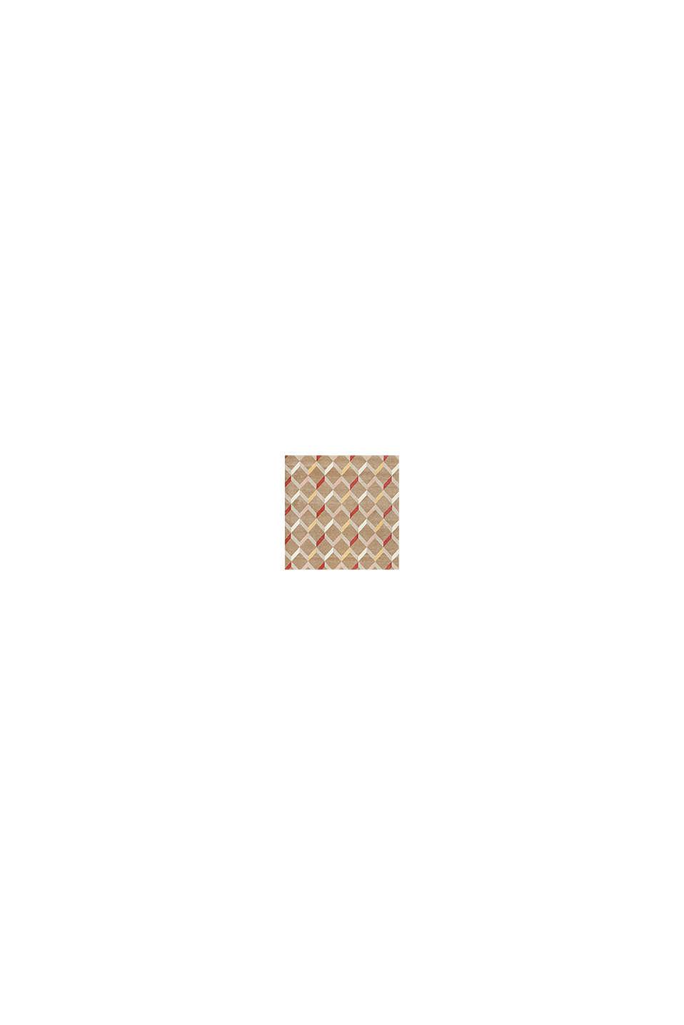 Web-Teppich mit dekorativem Rautenmuster, CARAMEL, swatch