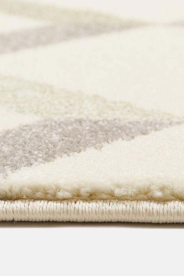 Web-Teppich mit dekorativem Rautenmuster, OLIVE, detail image number 5