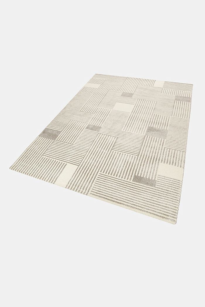 Web-Teppich mit grafischem Muster, LIGHT GREY, detail image number 4
