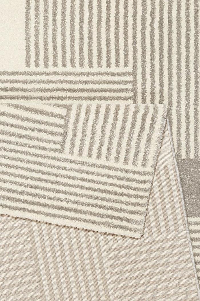 Web-Teppich mit grafischem Muster, LIGHT GREY, detail image number 2