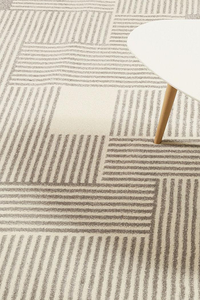Web-Teppich mit grafischem Muster, LIGHT GREY, detail image number 1