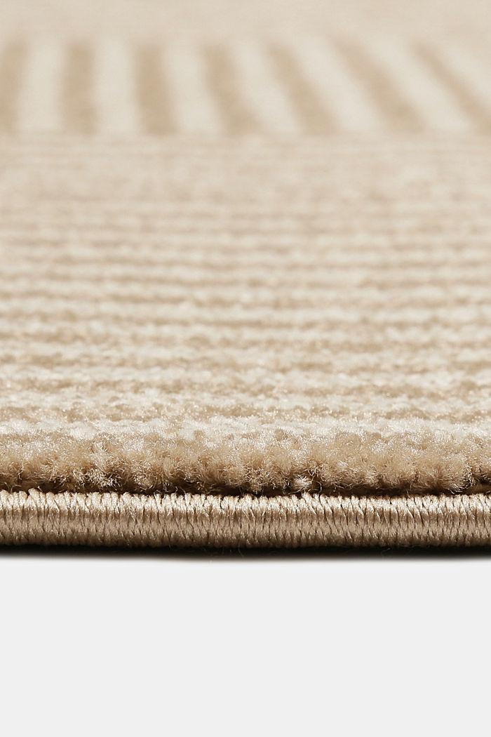 Web-Teppich mit grafischem Muster, BEIGE, detail image number 5