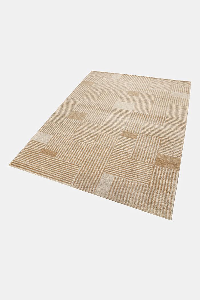 Web-Teppich mit grafischem Muster, BEIGE, detail image number 4