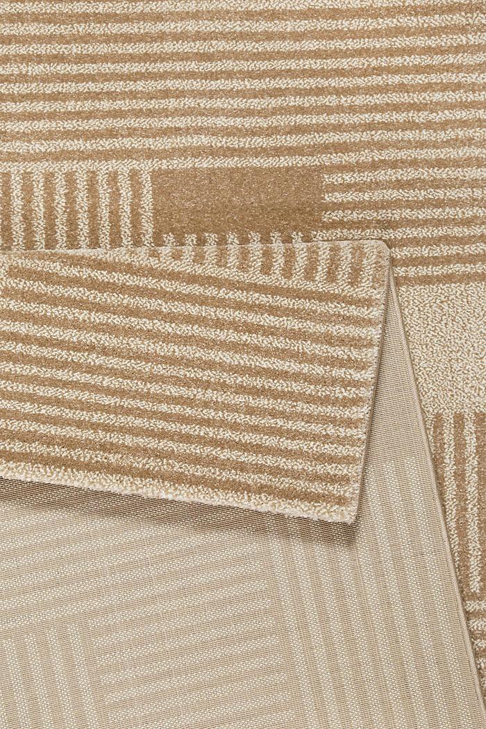Web-Teppich mit grafischem Muster, BEIGE, detail image number 2