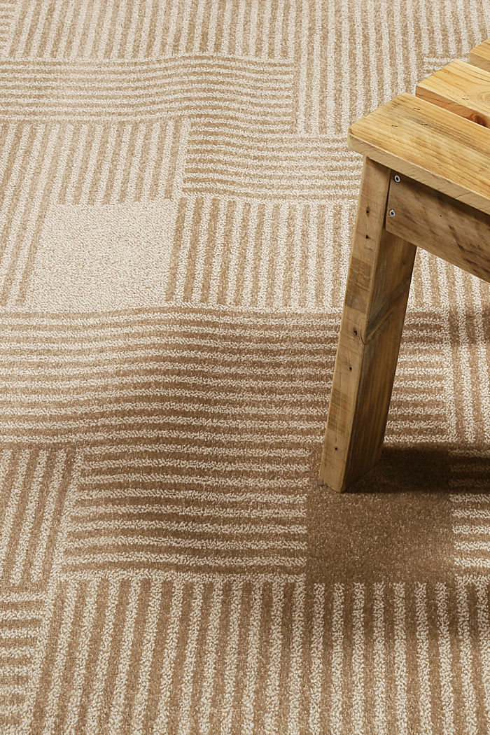 Web-Teppich mit grafischem Muster, BEIGE, detail image number 1