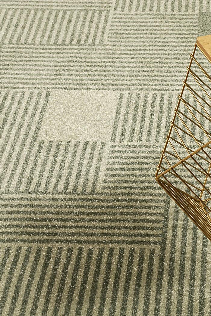 Web-Teppich mit grafischem Muster, GREEN, detail image number 5