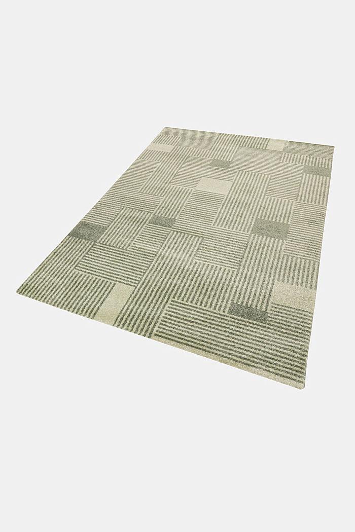 Web-Teppich mit grafischem Muster, GREEN, detail image number 4