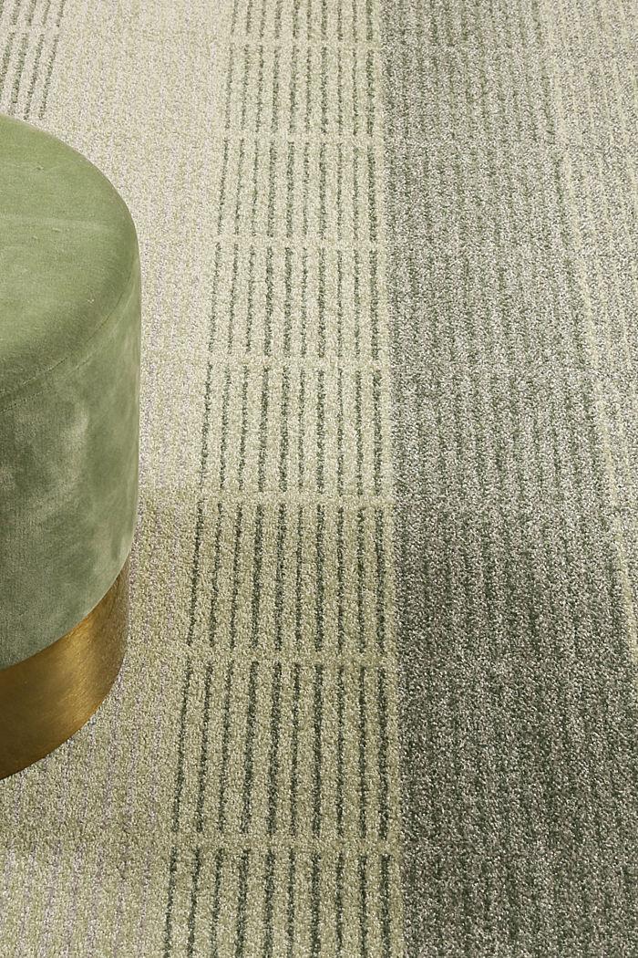 Web-Teppich mit Linien und Rahmen, GREEN, detail image number 5