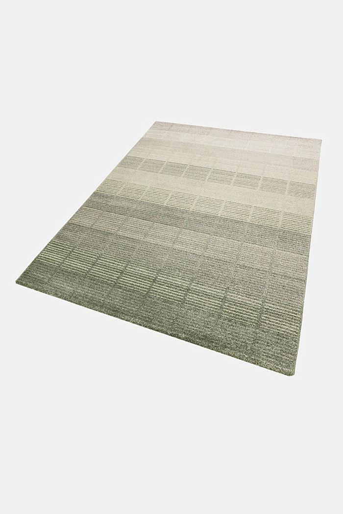 Web-Teppich mit Linien und Rahmen, GREEN, detail image number 4
