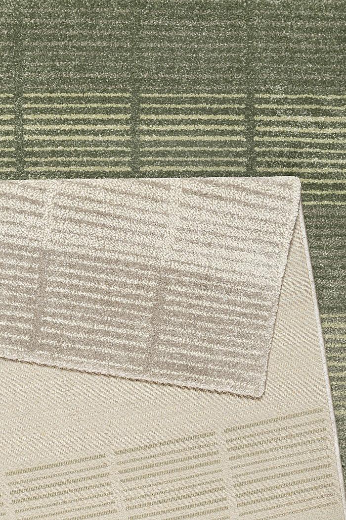 Web-Teppich mit Linien und Rahmen, GREEN, detail image number 2