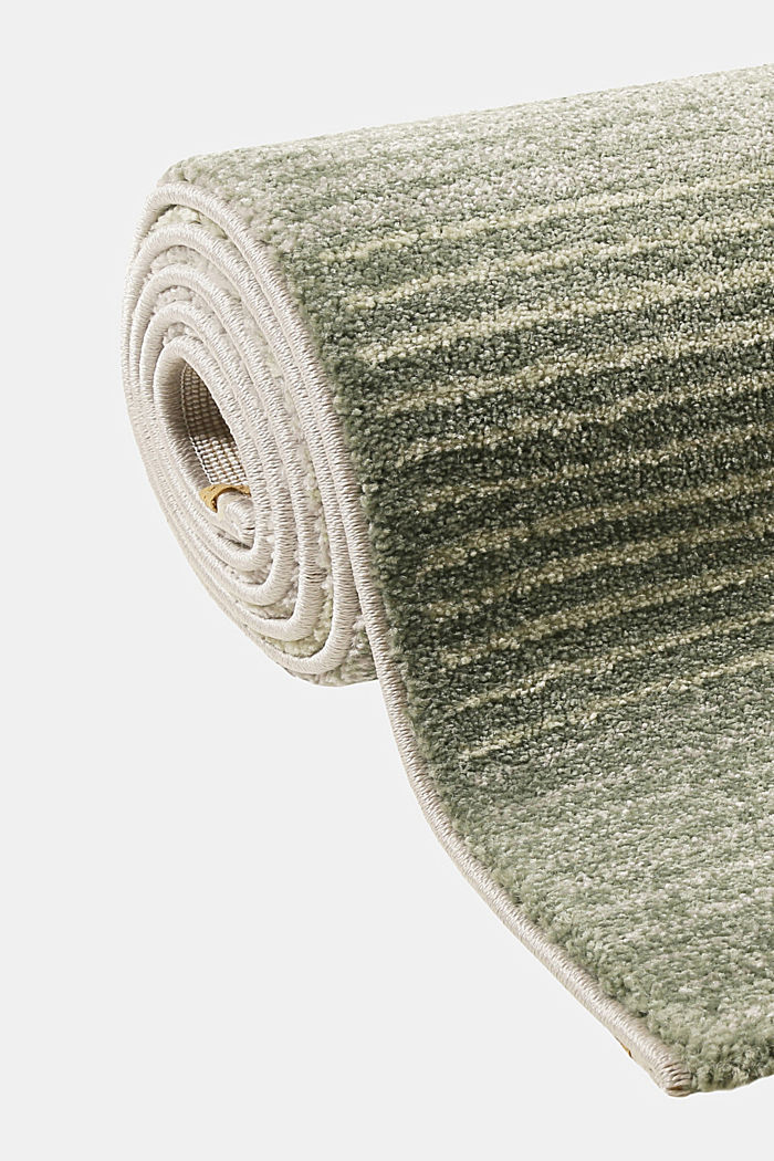 Web-Teppich mit Linien und Rahmen, GREEN, detail image number 3