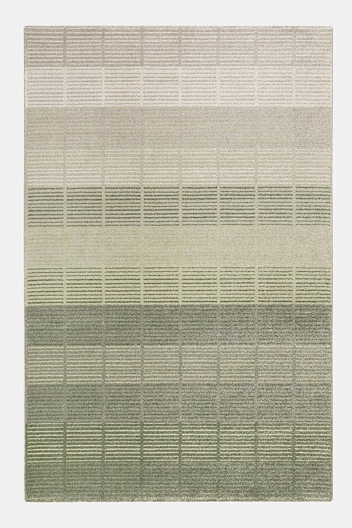 Web-Teppich mit Linien und Rahmen, GREEN, detail image number 1