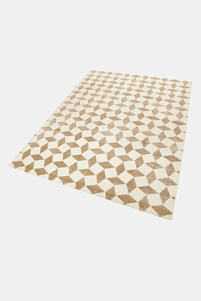 Web-Teppich mit geometrischem Muster, BEIGE, detail image number 4