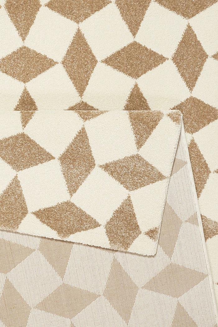 Web-Teppich mit geometrischem Muster, BEIGE, detail image number 2