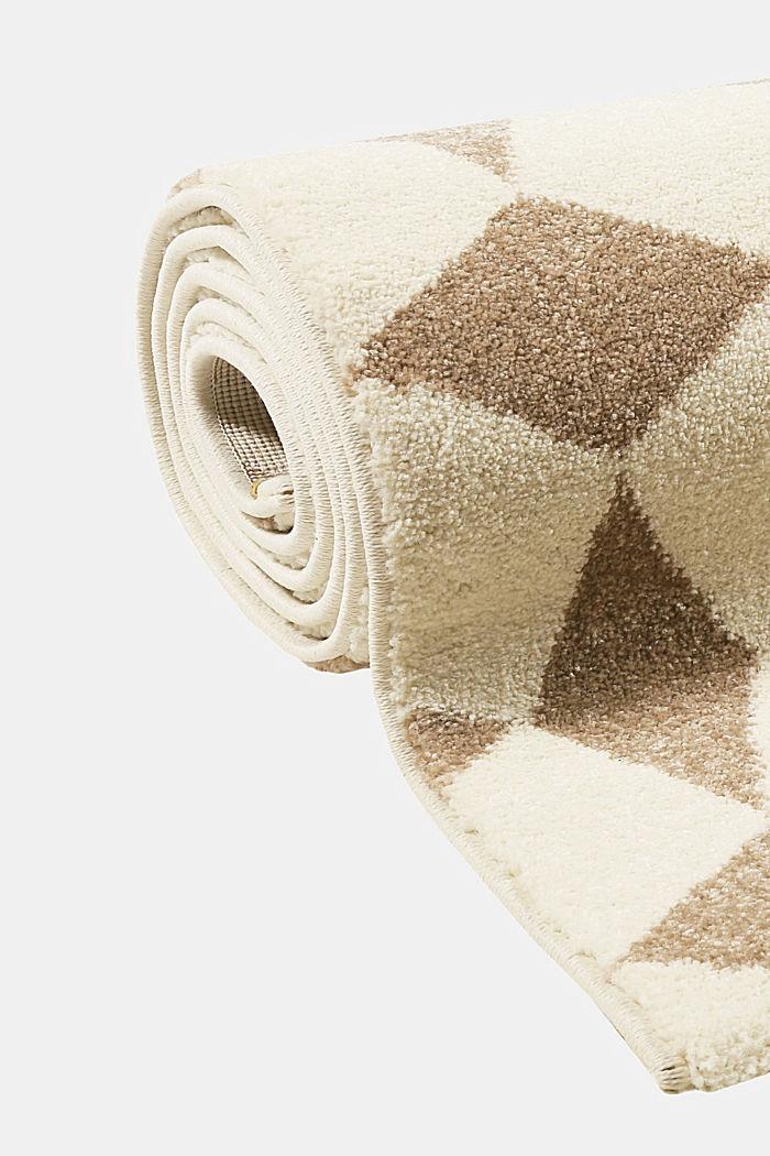 Web-Teppich mit geometrischem Muster, BEIGE, detail image number 3
