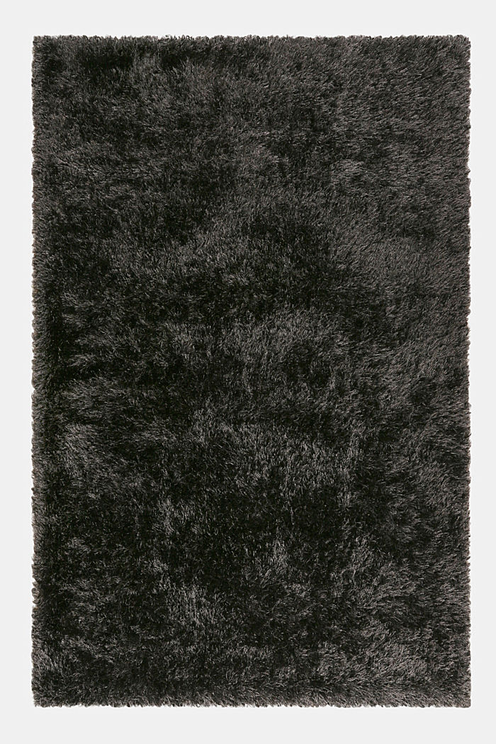 Flauschiger Langflor-Teppich, ANTHRACITE, detail image number 0