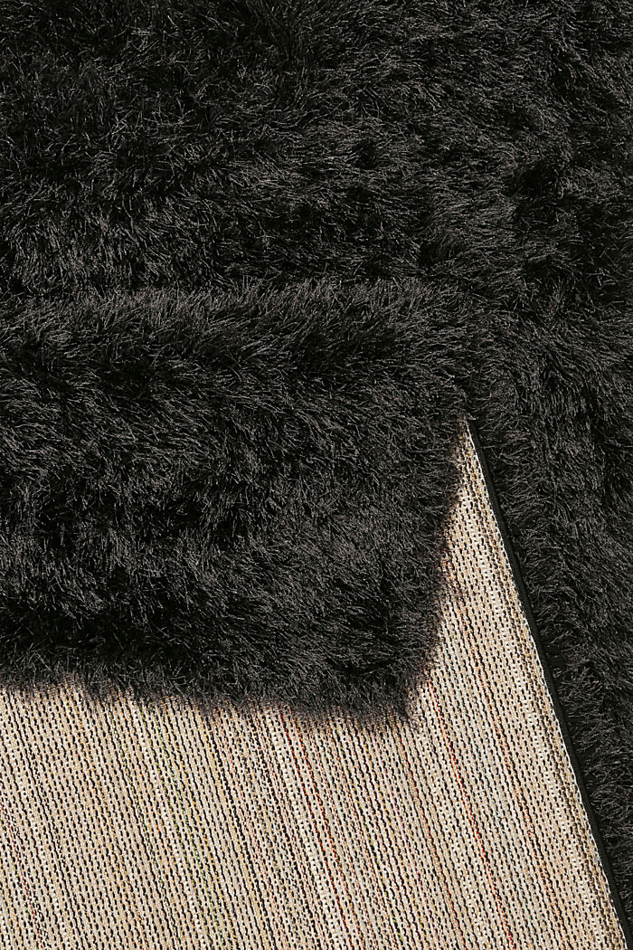 Flauschiger Langflor-Teppich, ANTHRACITE, detail image number 2