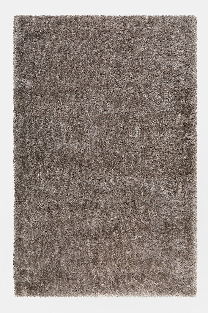 Flauschiger Langflor-Teppich, GREY-SILVER, detail image number 0