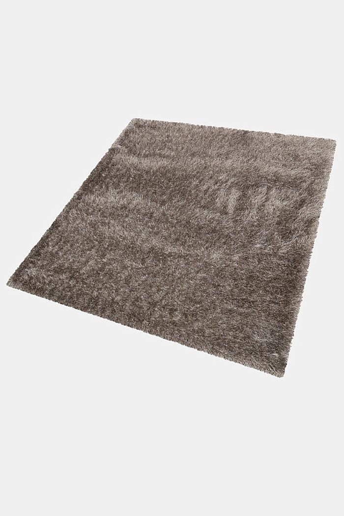 Flauschiger Langflor-Teppich, GREY-SILVER, detail image number 4