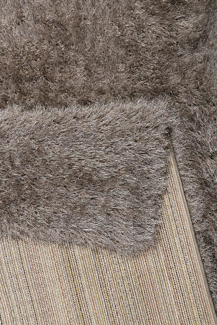 Flauschiger Langflor-Teppich, GREY-SILVER, detail image number 2