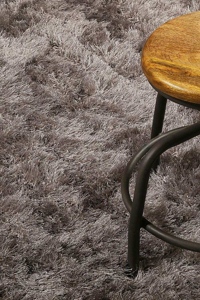 Flauschiger Langflor-Teppich, GREY-SILVER, detail image number 3