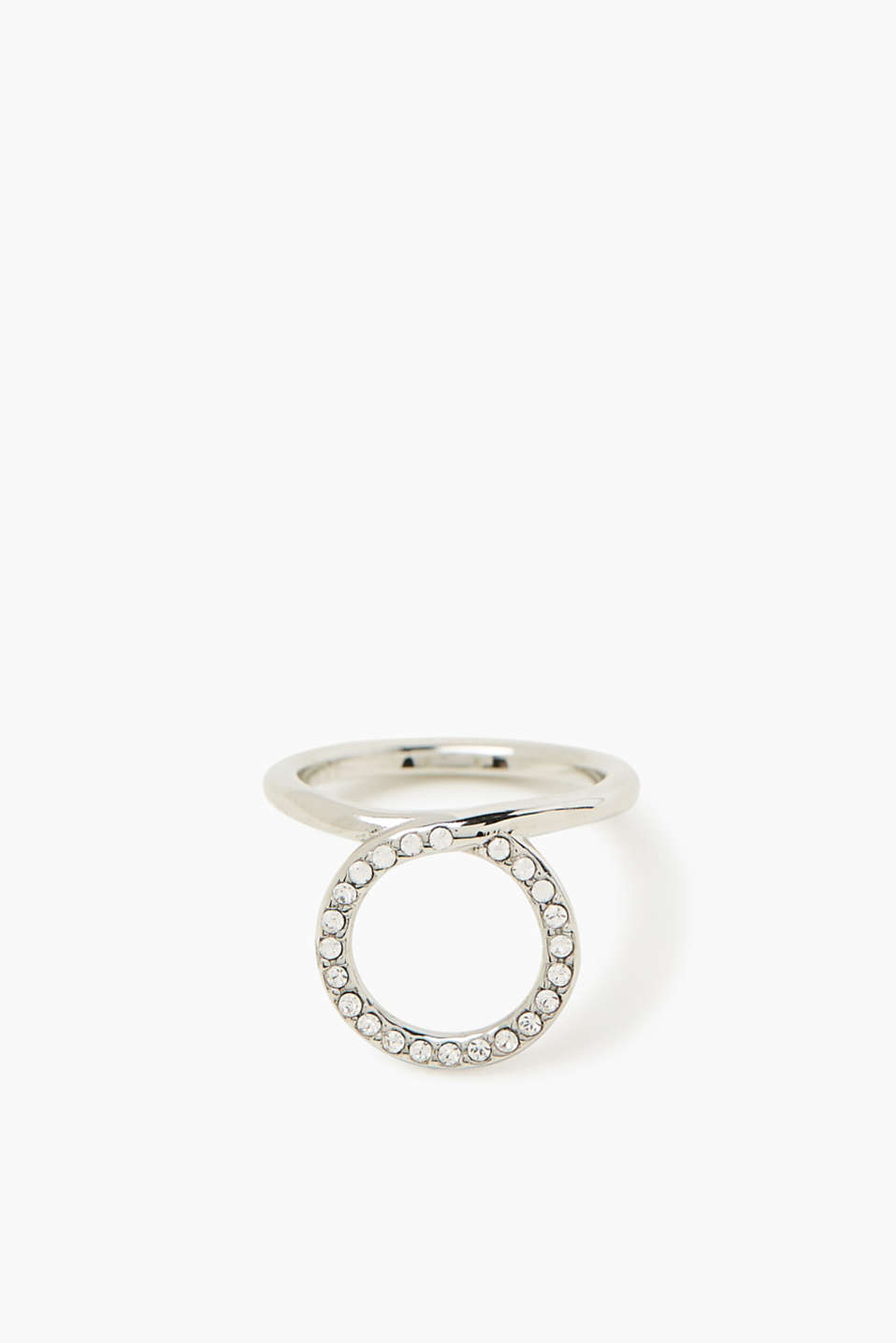 Esprit - Stainless steel ring with zirconia setting