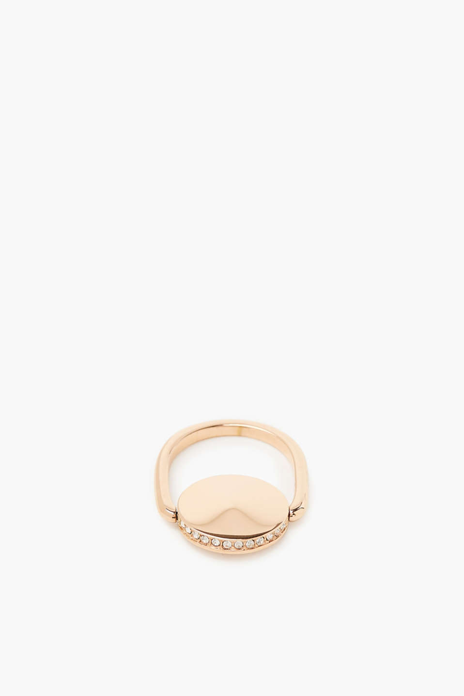Minimalist ring with zirconia, one colour, detail image number 1