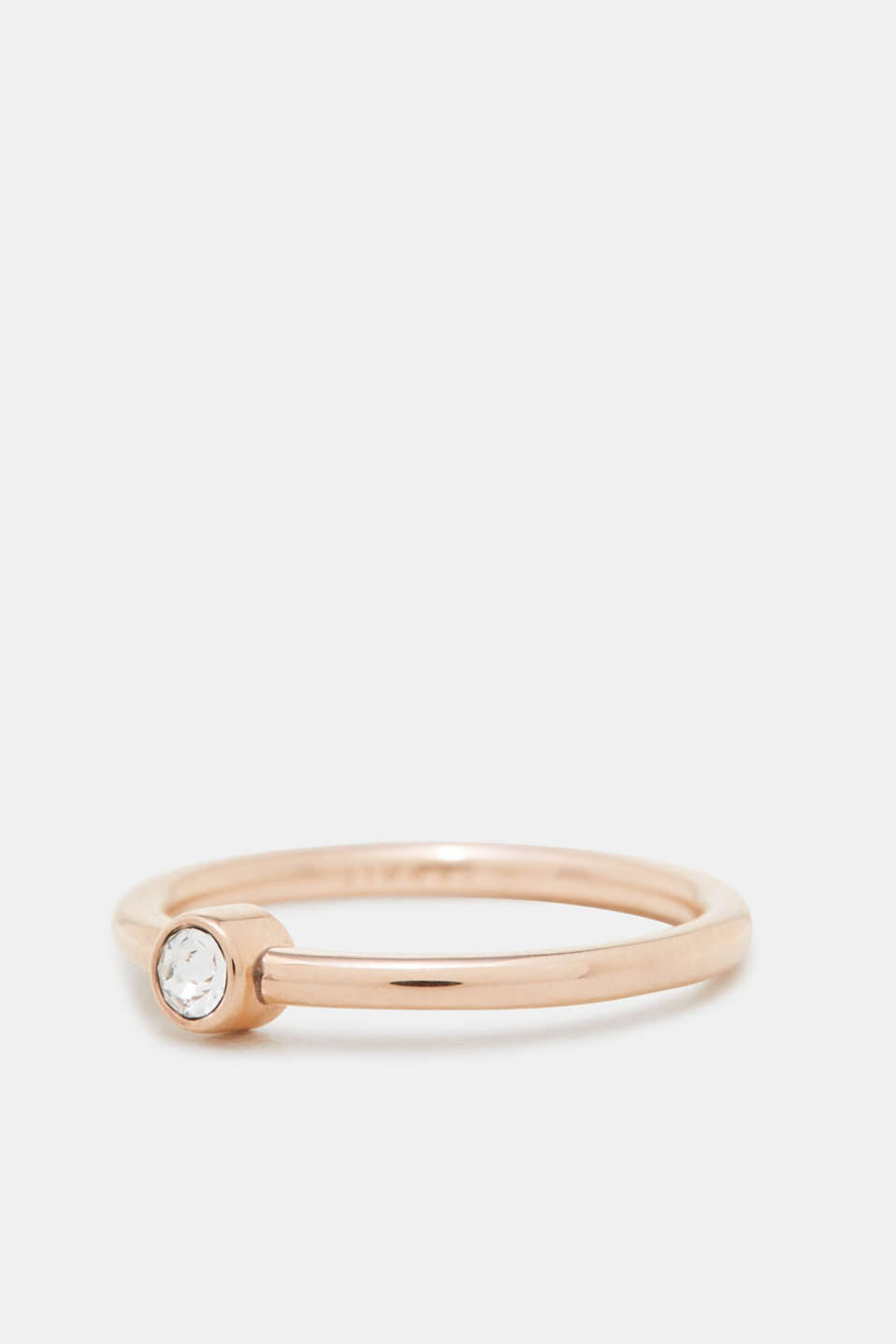 Esprit - Rose gold ring with zirconia